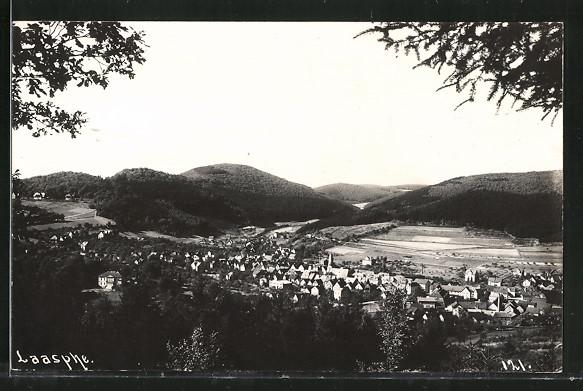 AK Bad Laasphe, Ortspanorama vom Berg aus gesehen