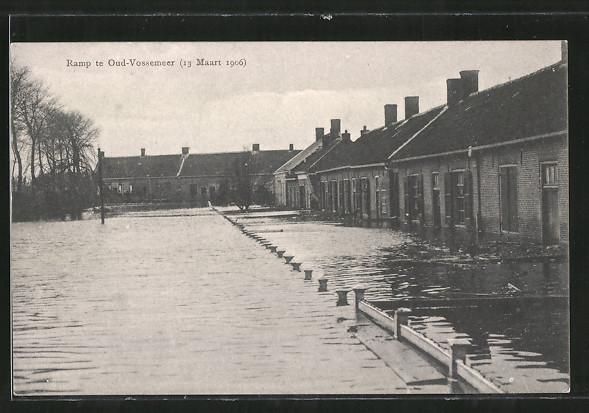 AK Ramp te Oud-Vossemeer, 13 Maart 1906, Hochwasser