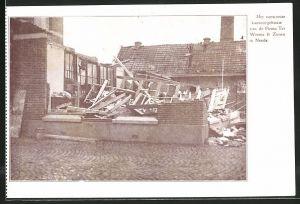 AK Neede, Het verwoeste kantoorgebouw va de Firma Ter Weeme & Zonen, Unwetter