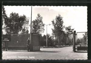 AK Legerplats Ossendrecht, Ingang