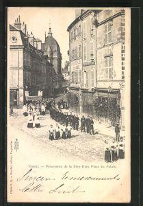 AK Vesoul, Procession de la Fete-Dieu Place de Palais