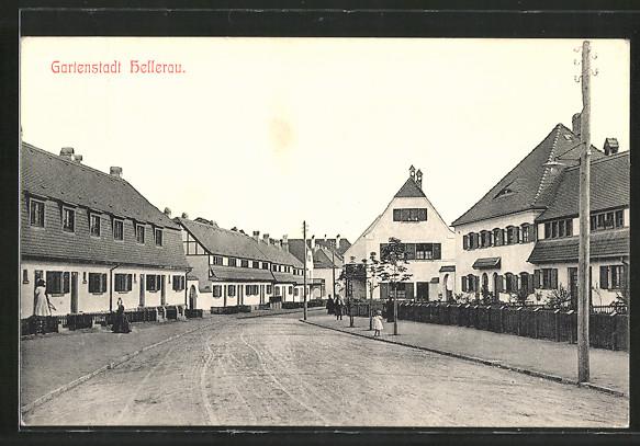 AK Dresden-Hellerau, Strassenpartie mit Waldschänke Hellerau Nr ...