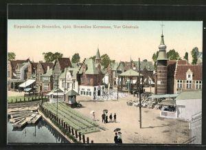 AK Bruxelles, Exposition de Bruxelles 1910, Bruxelles Kermesse, vue générale