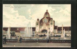 AK Düsseldorf, Gewerbe-und Industrie-Ausstellung 1902, Hauptindustriehalle