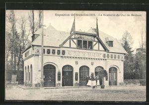 AK Bruxelles, Exposition de Bruxelles 1910, la brasserie du duc de Brabant