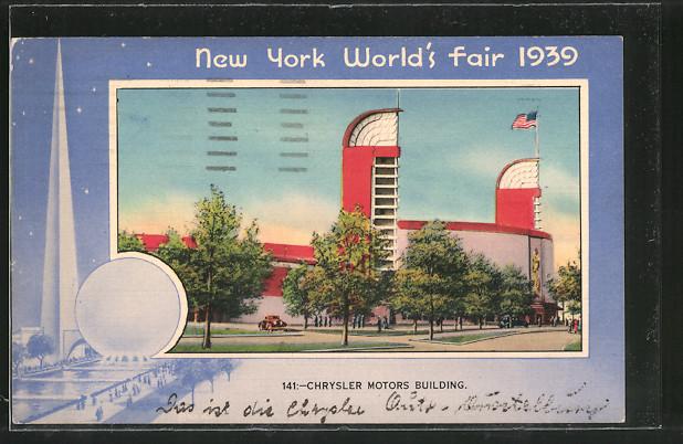 AK New York, World's Fair 1939, Chrysler Motors Building