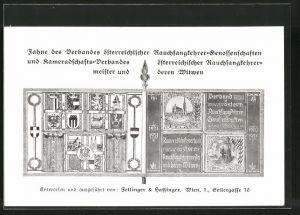 AK Wien, Österreichische Rauchfang-Lehrmeister-Tagung 1931, Fahne des Verbandes