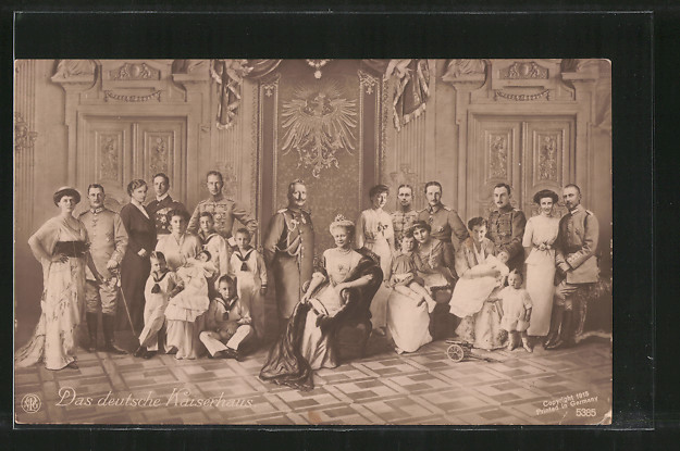 AK Das deutsche Kaiserhaus