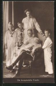 AK Kronprinz Wilhelm von Preussen und seine Familie