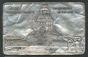 Metall-AK Leipzig, Völkerschlachtdenkmal, Zur Erinnerung an das Jahr 1813