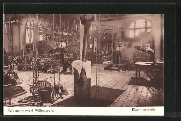 AK Den Helder, Rijksmarinewerf Willemsoord, Electr. centrale, Innenansicht