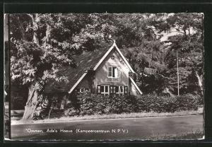AK Ommen, Ada's Hoeve, Kampeercentrum N.P.V., Motiv des Hauses