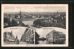 AK Herne, Schloss Strünkede, Bahnhofstrasse