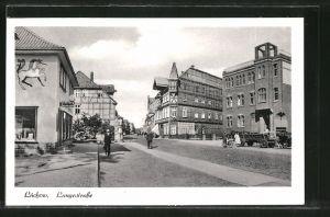 AK Lüchow, Langestrasse mit Geschäften