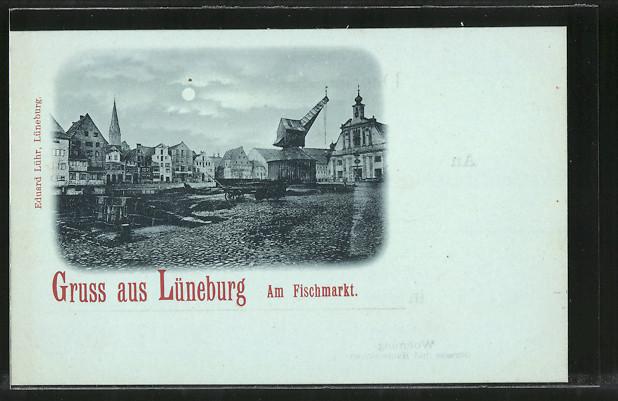 Mondschein ak l neburg partie am fischmarkt nr 7233958 for Am fischmarkt