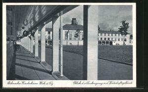 AK Wiek, Blick zum Wirtschaftsgebäude des sächs. Kinderheims