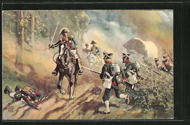 AK Befreiungskriege, Gefangennahme des Marschall Vandamme bei Kulm