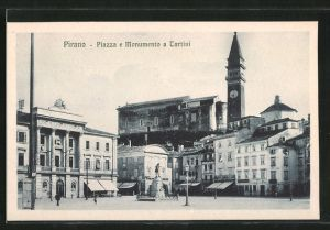 AK Pirano, Piazza e Monumento a Tartini