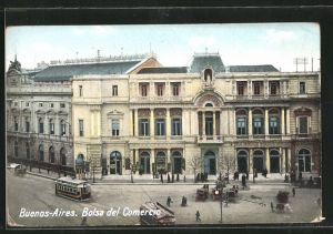 AK Buenos Aires, Bolsa del Comercio, Strassenbahn