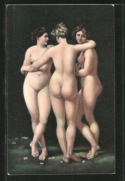 Künstler-AK Stengel & Co. Nr. 29209: Die drei Grazien