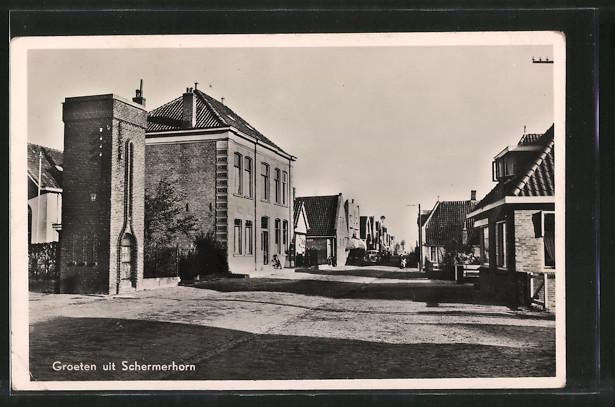 AK Schermerhorn, Strassenpartie im Ort
