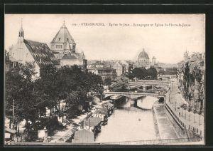 AK Strasbourg, Synagoge et église St-Pierre-le-Jeune, église St-Jean