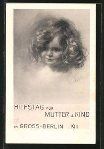 Künstler-AK Hilfstag für Mutter und Kind in Gross-Berlin 1911