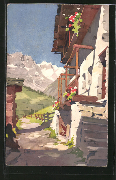 Künstler-AK S. Bonelli: Valtournanche, La grande muraille