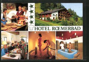 AK Bad Kleinkirchheim, Hotel Roemerbad, Innen - und Aussenansicht