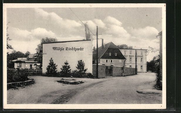 AK Mühle Lindhardt, Blick auf die Gaststätte Mühle Lindhardt