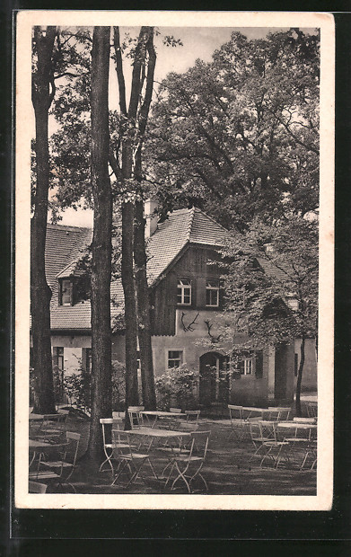 AK Moritzburg, Gasthaus Jagdschloss, Churfürstliche Waldschänke Nr ...