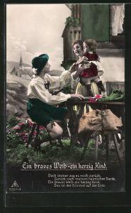 Foto-AK Photochemie Berlin Nr. 5397-4: Ein braves Weib - ein herzig Kind, Doch immer zog es mich zurück...
