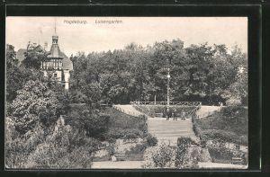 AK Magdeburg, Parkpartie im Luisengarten