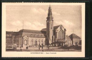 AK Luxembourg, La Gare, Centrale, Haupt-Bahnhof