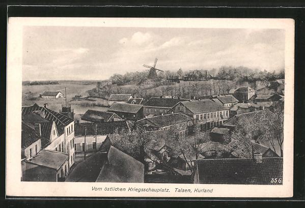 AK Talsen, Panorama mit Windmühle