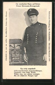 AK Portrait Peter Sörnsen-Kongstedt in Uniform