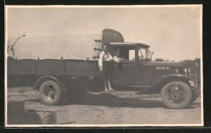 Foto-AK Blitz '6', Lastkraftwagen