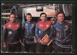 AK Gemeinsamer Kosmosflug UdSSR/DDR, Kosmonauten Jähn, Bykowski, Köllner und Gorbatko