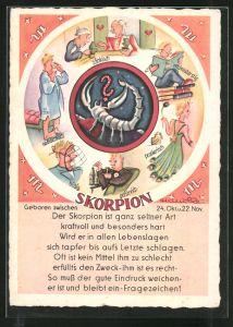 AK Sternzeichen Skorpion: