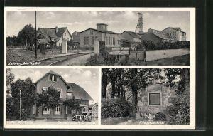 AK Höfer, Kaliwerk Mariaglück, Gasthaus E. Meyer, Kriegerdenkmal