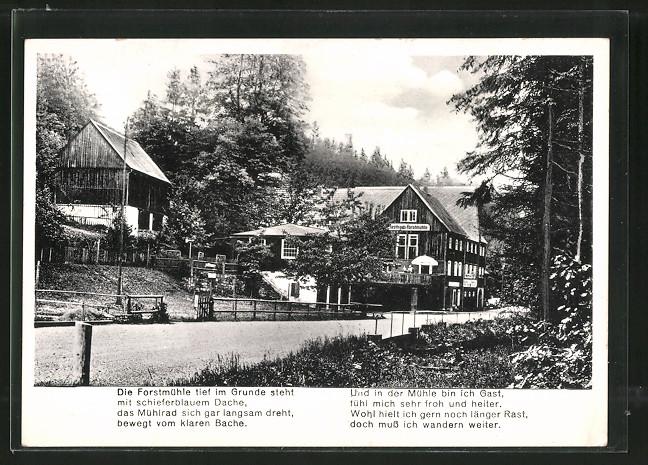 AK Kleingiesshübel, Gasthaus Forstmühle im Krippengrund