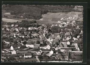 AK Borgholzhausen, Ortsansicht vom Flugzeug aus