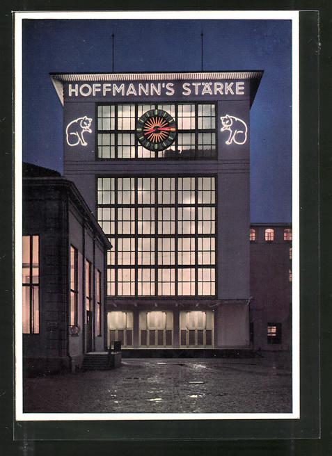 ak bad salzuflen blick auf hoffmann 39 s st rkefabriken. Black Bedroom Furniture Sets. Home Design Ideas