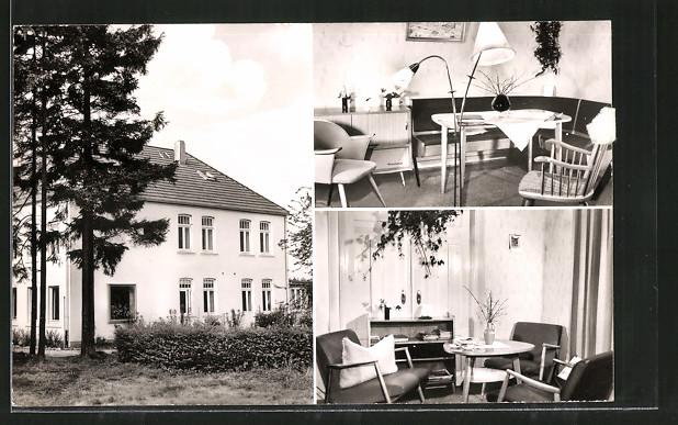 AK Klecken, Erholungsheim Haus Tanneck, versch. Ansichten