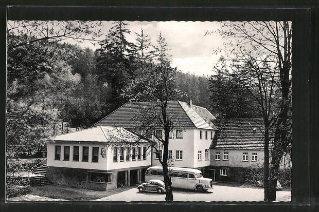 AK Horn-Bad Meinberg, Blick auf die Waldgaststätte Kattenmühle