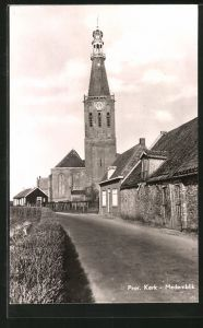 AK Medemblik, Prot. Kerk, Teilansicht mit Kirche