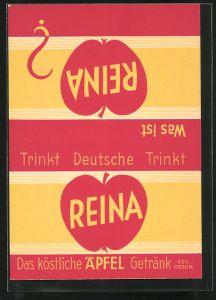 AK Reklame für Reina Äpfel-Getränk