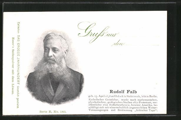 AK Portrait des Forschers Rudolf Falb 0
