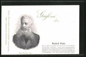 AK Portrait des Forschers Rudolf Falb
