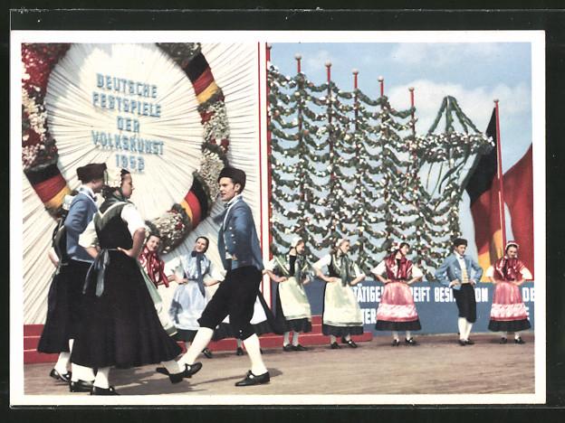 AK Berlin, Festspiele der Volkskunst 1953, Staatliches Volkskunst-Ensemble der DDR, Oldenburger Volkstanz